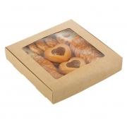 Коробка крафт для печенья 16х16х3см