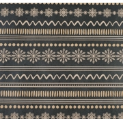 """Бумага упаковочная крафт """"Снежный орнамент"""" 50х70см"""