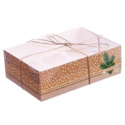 """Коробка для 6 капкейков """"Это для тебя"""" 16х23х7.5см (1шт.)"""