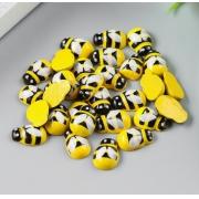 Пчёлки деревянные  жёлтые (5 шт) 1.3 см