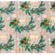 """Бумага упаковочная глянцевая """"Happy new year"""" 70х100см"""