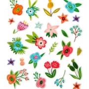 """Наклейки пластиковые """"Цветы"""" 11х13см"""