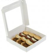 Коробка для печенья 16х16х3см