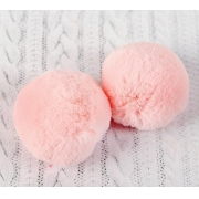 Помпон иск.мех 6см (1шт.) розовый