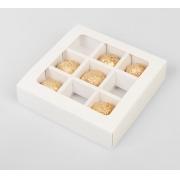 Коробка для конфет на 9шт 14.5х14.5х3.2см