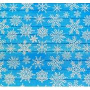 """Бумага упаковочная крафтовая """"Снежинки на дереве"""" 50х70см"""