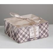 """Коробка для 4 капкейков """"Всего и побольше"""" 16х16х7,5 см"""