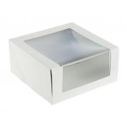 Короб для торта с окном 22.5х22.5х11см (1шт.)