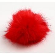 Помпон иск.мех песец 14см красный