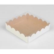 Коробочка для печенья 12х12х3см