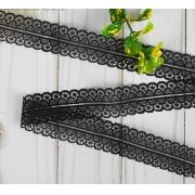 Кружево капроновое 30мм (1метр) черное