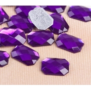 """Стразы термоклеевые """"Прямоугольник"""" 10х14мм (20шт.) фиолетовый"""