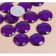 Стразы термоклеевые 10мм (50шт) фиолетовый