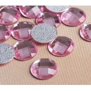 Стразы термоклеевые 10мм (50шт) розовый
