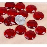 Стразы термоклеевые 10мм (50шт) красный