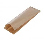 Пакет крафт с плоским дном 8х2х20 см (20шт.)
