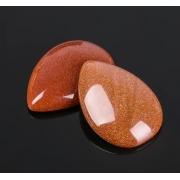 "Кабошон капля ""Авантюрин коричневый"" 18х25мм (1шт.)"