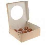 Упаковка крафт для 9 маффинов 25х25х10см