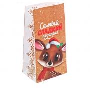 """Пакет бумажный """"Самый сладкий подарок"""" 10х19.5х7см"""