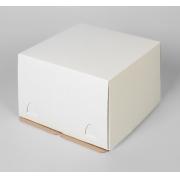 Короб для торта микро-гофро-картон 30х30х19см