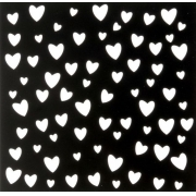 Трафарет 15х15 см Сердечки