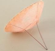 Каркас для букета (сизаль), светло-розовый, d=25см