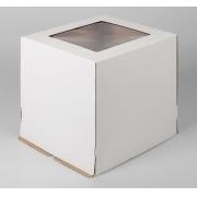 Короб для торта с окном 30х30х30см (1шт.)