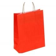 Пакет крафт с ручками 25х32х11 см красный