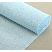 Гофрированная бумага №559 0.5х2.5м Нежно-голубая (Италия)
