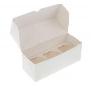 Коробка для 3 капкейков без окна 25х10х10см