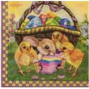 """Салфетка """"Цыплята и кролик"""" (3шт.)"""