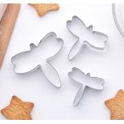 """Набор форм для печенья """"Стрекоза"""" 6.5х7.5см (3шт.)"""