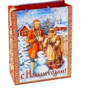 "Пакет ламинат ""Снеговик"" 11х14см"