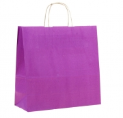 Пакет крафт с ручками 32х32х12 см фиолетовый