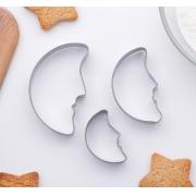 """Набор форм для печенья """"Месяц"""" 7х4.5х1.5см (3шт.)"""