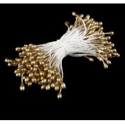 """Тычинки """"Капельки золотые"""" (набор 130 шт) длина 6 см"""