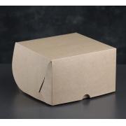 Коробка крафт для 4 капкейков 16х16х10 см