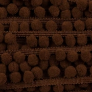 Тесьма с помпонами FBL-02 100 коричневая (1м)