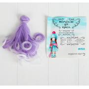 Волосы - тресс для кукол «Завитки» длина волос: 15 см, ширина: 100 см, №LSA010