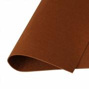Фетр Корея жесткий 33х53 см 1.2 мм коричневый