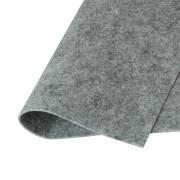 Фетр Корея жесткий 33х53 см 1.2 мм серый меланж