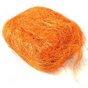 Сизаль (сизалевое волокно) 100гр, оранжевый