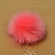 Помпон иск.мех 15см PIP01 ярко-розовый