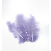 Перья 7-10 см 30 шт, фиолетовые №11