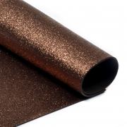 Фоамиран глиттерный 2мм 20х30см коричневый
