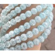 Битый (сахарный) кварц 6мм (10шт.) голубой