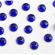 Стразы граненые акрил 8 мм, синий (20 шт)
