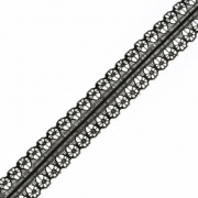 Кружево TBY-769-2 черное (2метра)