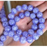 Битый (сахарный) кварц 10мм (4шт.) светло-фиолетовый