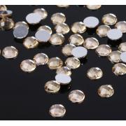 Стразы плоские круг, 6 мм, (набор 40шт), цвет золото